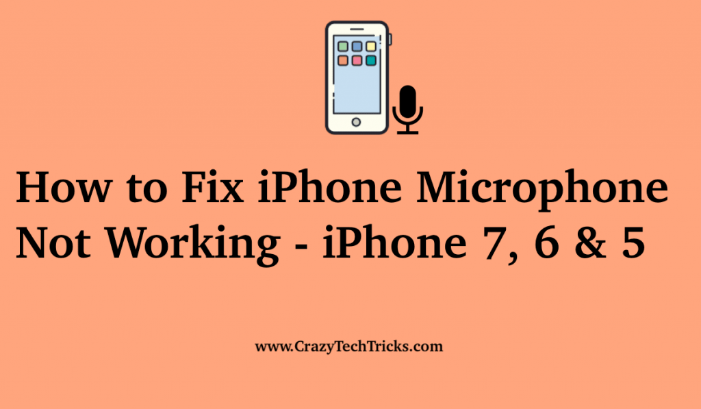 How to Fix iPhone Microphone Not Working