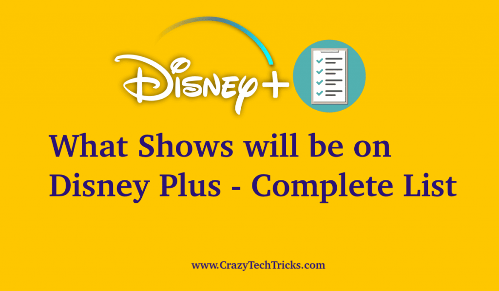 What Shows will be on Disney Plus