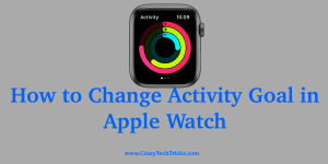 Change Activity Goal in Apple Watch