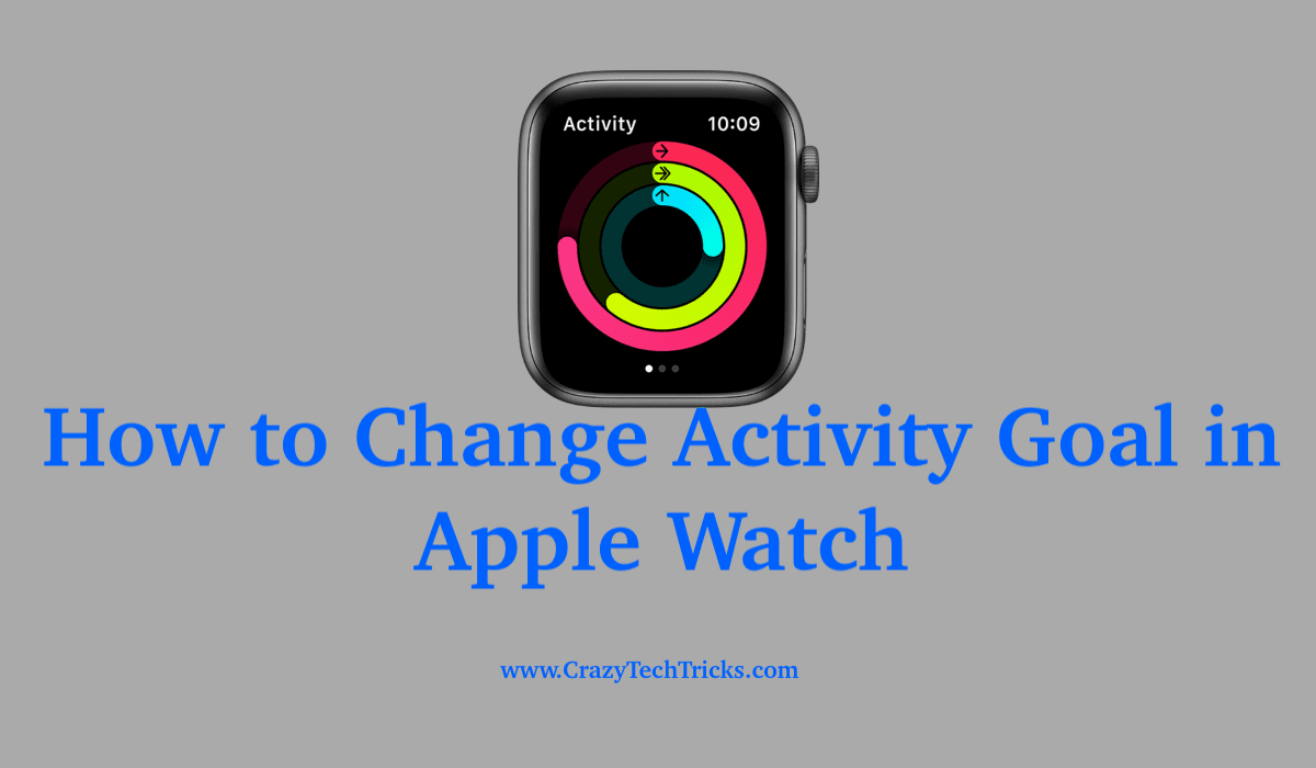 Change Activity Goal in Apple Watch
