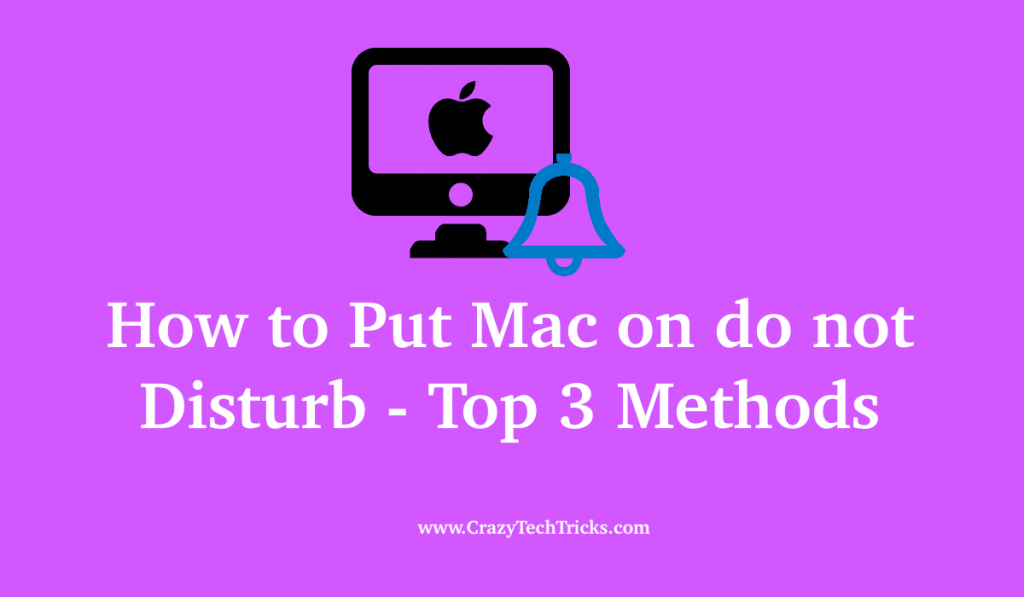 How to Put Mac on do not Disturb