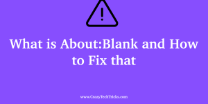 What is About:Blank