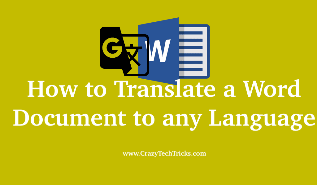How to Translate a Word Document to any Language