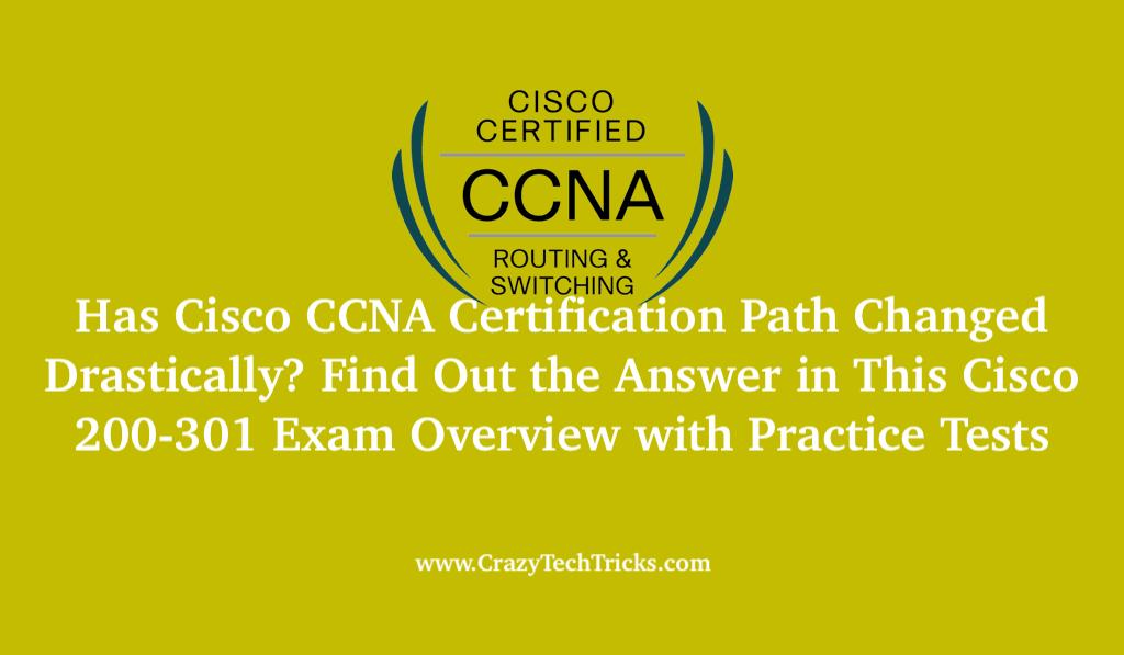 Cisco CCNA Certification Path