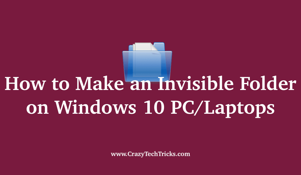 How to Make an Invisible Folder