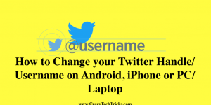 How to Change your Twitter Handle Username