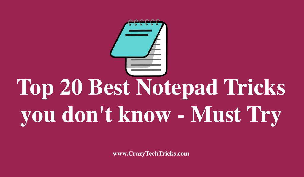 Best Notepad Tricks