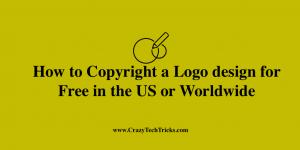How to Copyright a Logo design for Free