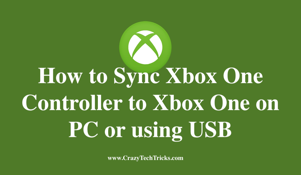 Sync Xbox One Controller to Xbox One