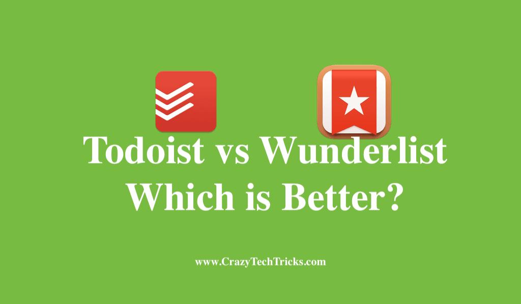 Todoist vs Wunderlist