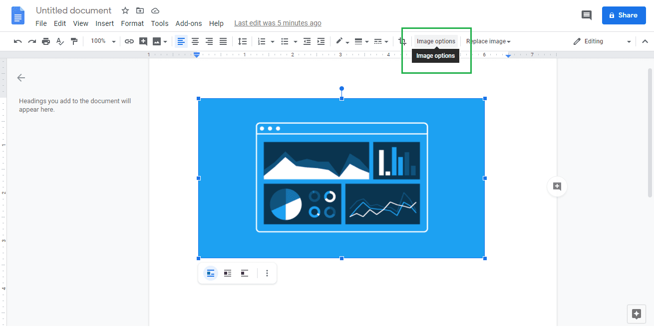 Clickon theImage Options