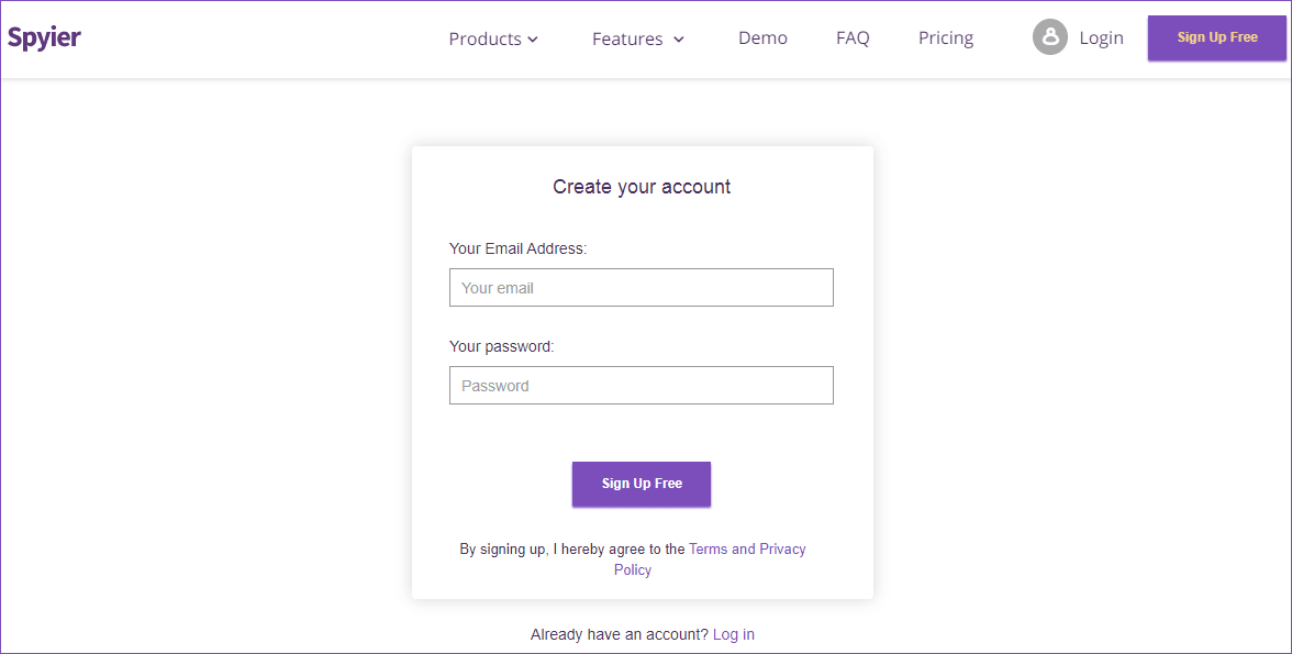 Setup your Spyier account in a flash!