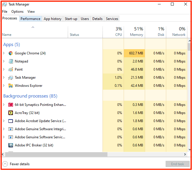 What Graphics Card Do i have - Using Task Manager - open taskbar