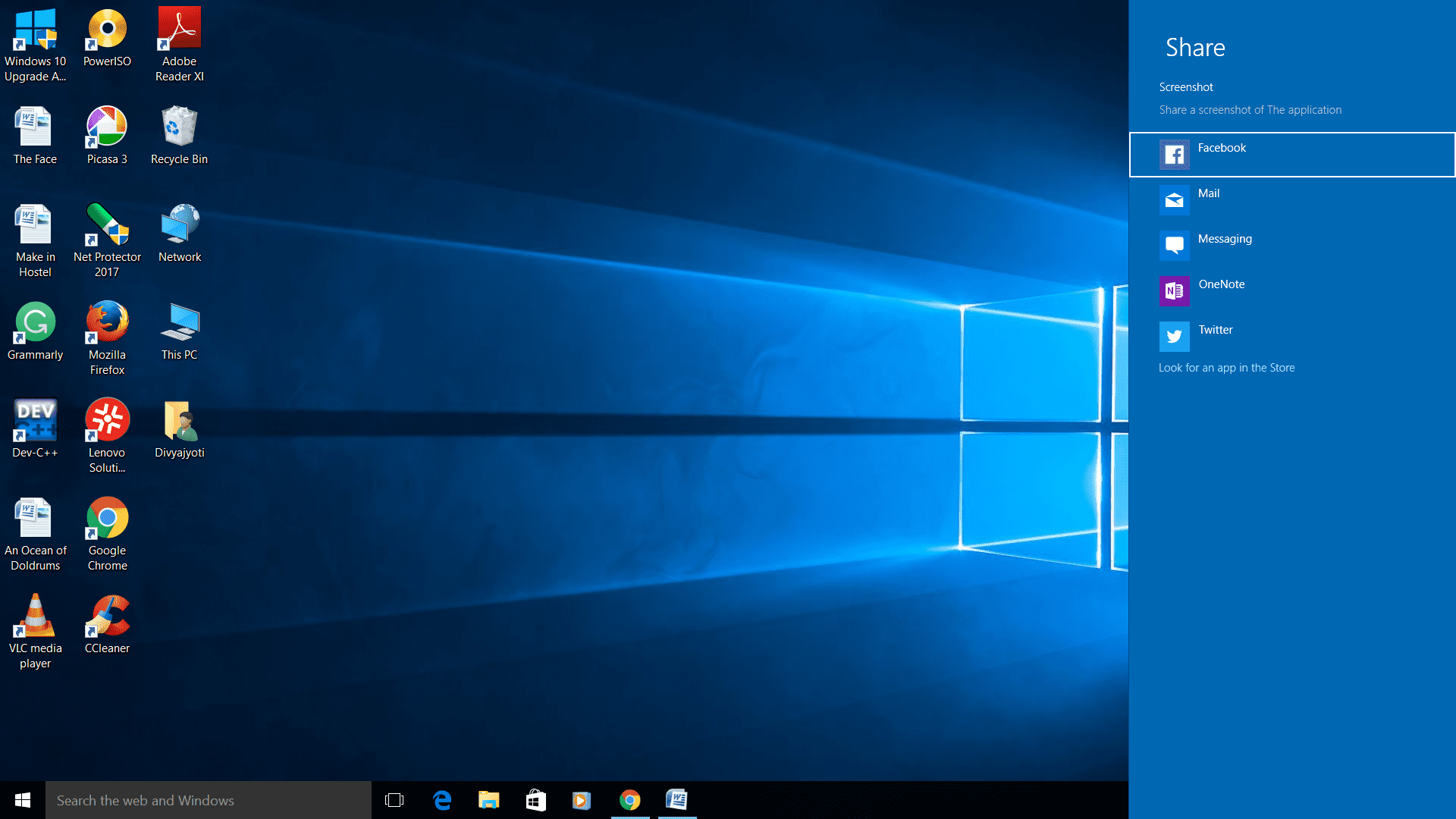 How to Click Screenshots on Windows 10 using Win+H