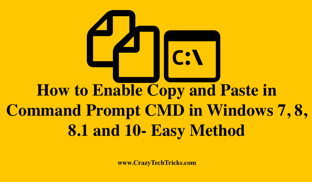 Copy Paste in Command Prompt i