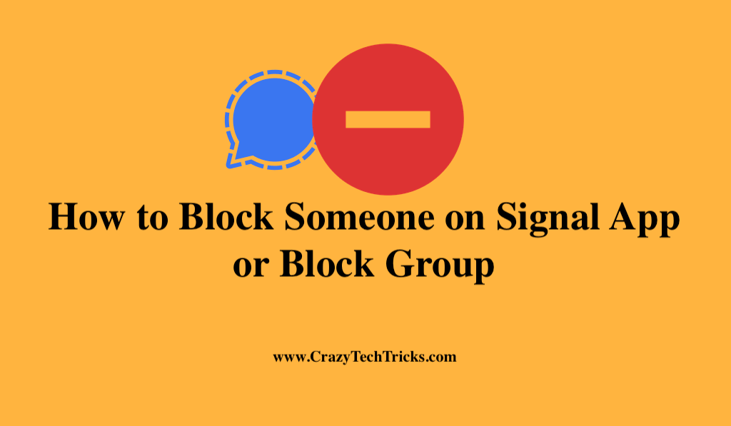 How to Block Someone on Signal App