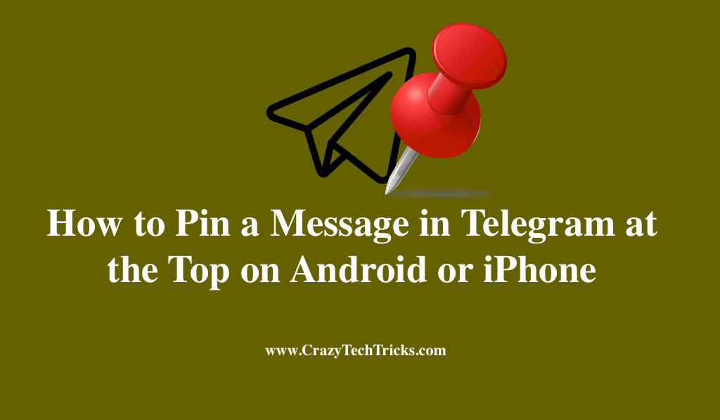 How to Pin a Message in Telegram at the Top