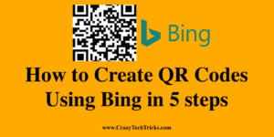 How to Create QR Codes Using Bing