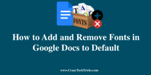 How to Remove Fonts in Google Docs
