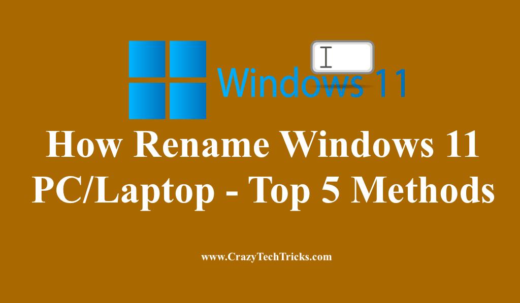 How Rename Windows 11 PC