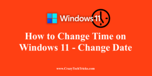 How to Change Time on Windows 11