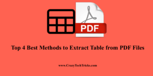 Extract Table from PDF Files