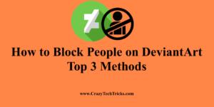 How to Block People on DeviantArt