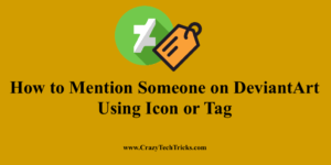 How to Mention Someone on DeviantArt